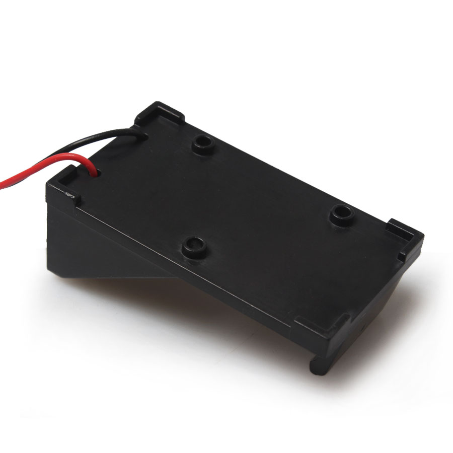 Wholesale 100pcs lot Plastic Case Black Battery Storage Holder With 2 Long Wire Lead For 9V
