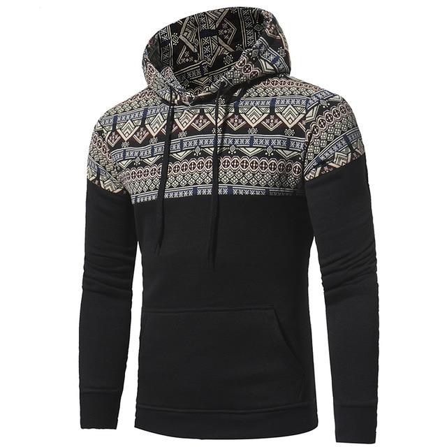 Brand 2018 Hoodie Design Of Retro National Winds Hoodies Men Fashion Tracksuit Male Sweatshirt Hoody Mens Purpose Tour CD50