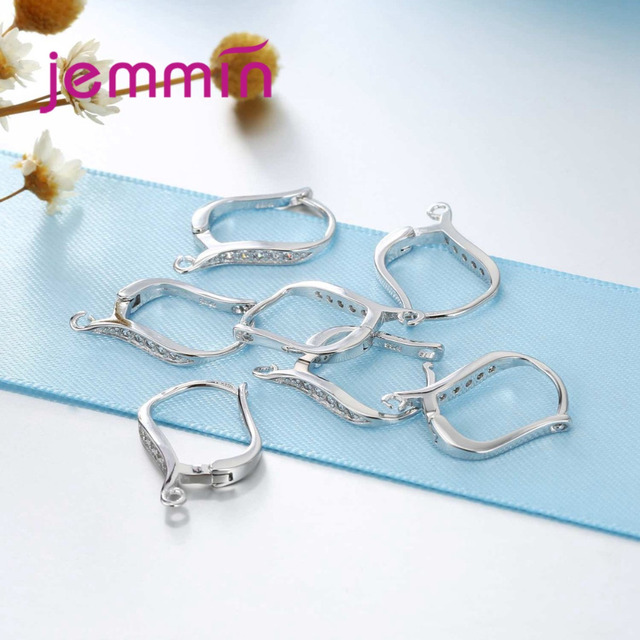 Jemmin Fashion Women Hoop Earrings S925 Sterling Silver Earrings Elegant Design For Women Party Wedding Jewelry High Quality