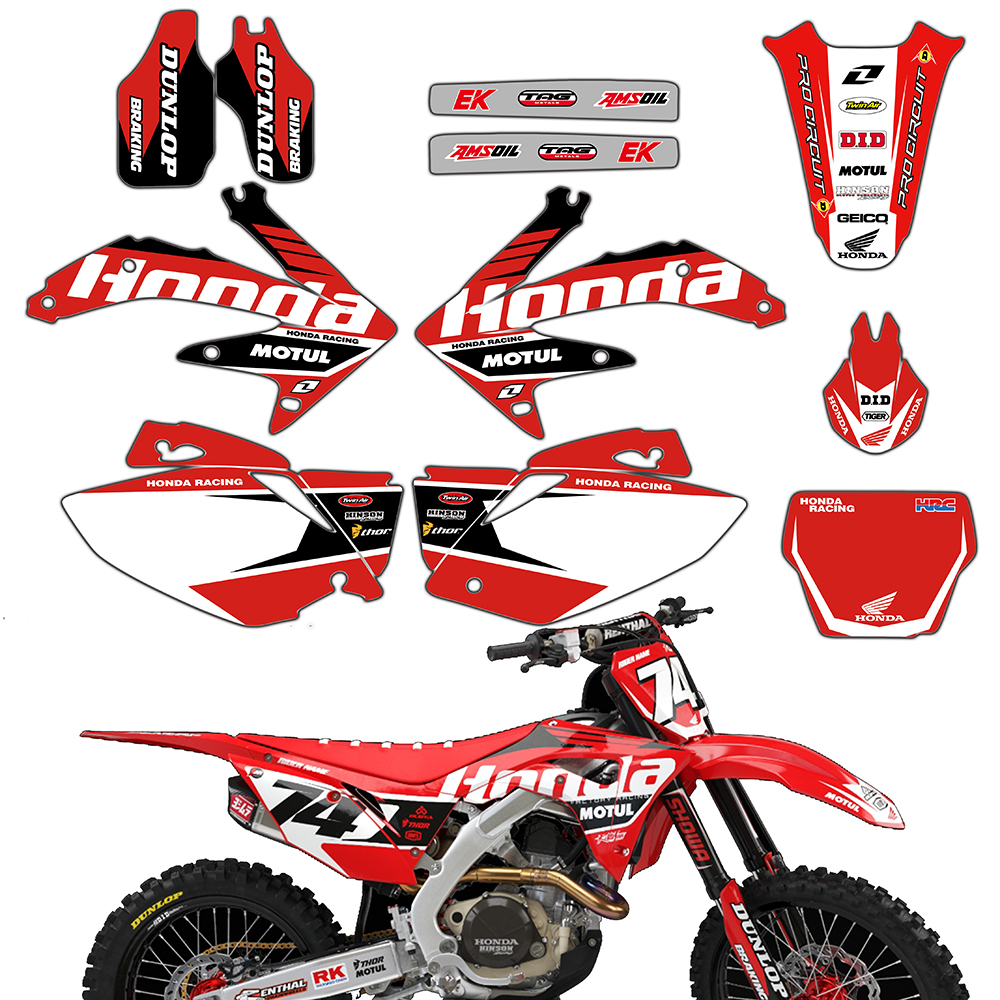 Motorcycle Graphics Brackgrounds Decal Stickers For Honda CRF450 CRF450R CRF 450 450R 2005 2006 Pegatinas Moto Decor Accessories