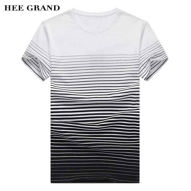 Hee Grand/мужские футболки короткий рукав 2017 Лидер продаж Модные Полосатые повседневные облегающие круглым вырезом Camisetas S-XXL Размер MTS1355