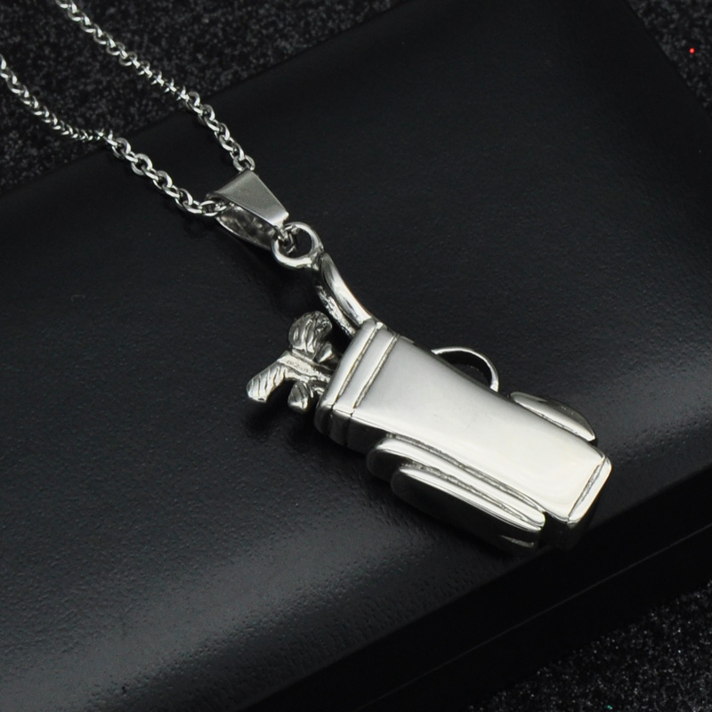 Cheap hip punk gothic cool titanium stainless steel sports golf hip punk gothic cool titanium stainless steel sports golf clubs bag pendants necklaces for men jewelry aloadofball Images