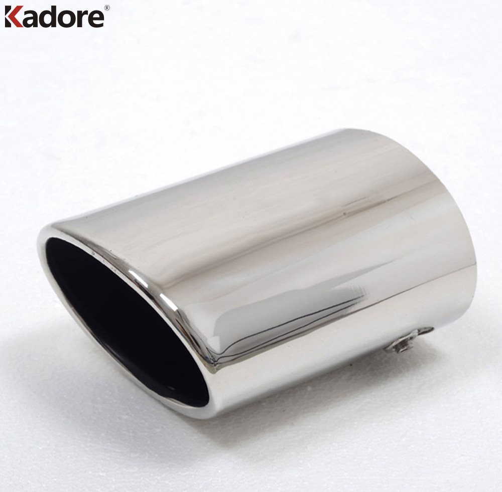 For Toyota Prado J150 FJ120 Stainless Steel Exhaust Muffler Tip Pipe End Pipes Silencer Car Styling Auto Accessories 1pc stylish stainless steel car exhaust pipe muffler tip