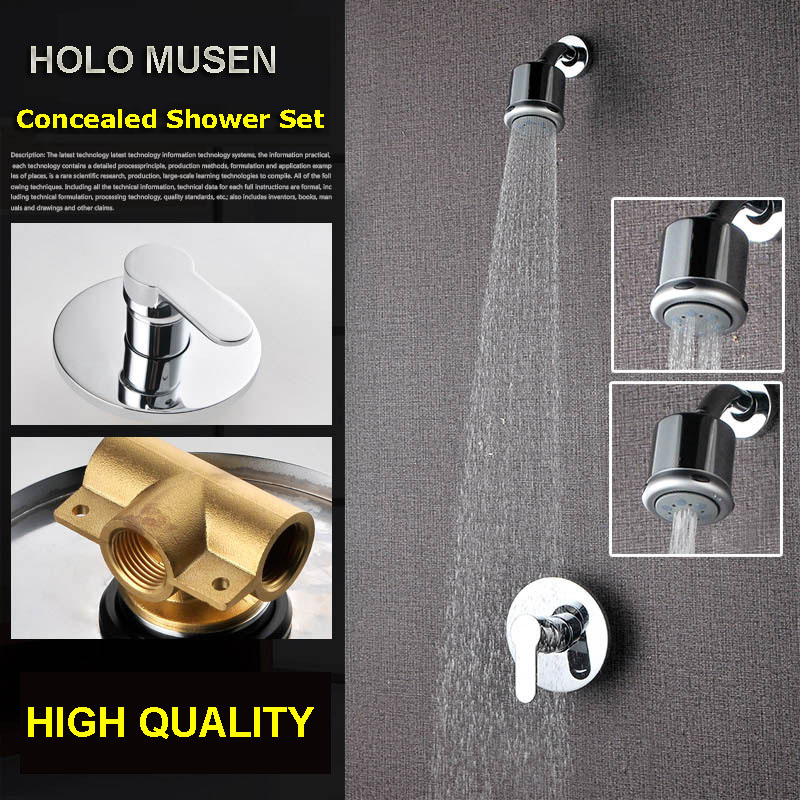 High Quality Chrome 3 Shower Way Change Wall Shower Mixer Valve Hot Cold  Water Bathroom Concealed