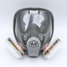 Pour 6800 Masque À Gaz Masque Complet Respirateur 7 PCS Costume Peinture Pulvérisation avec 5N11 Filtres et 6001CN Cartouche Gris
