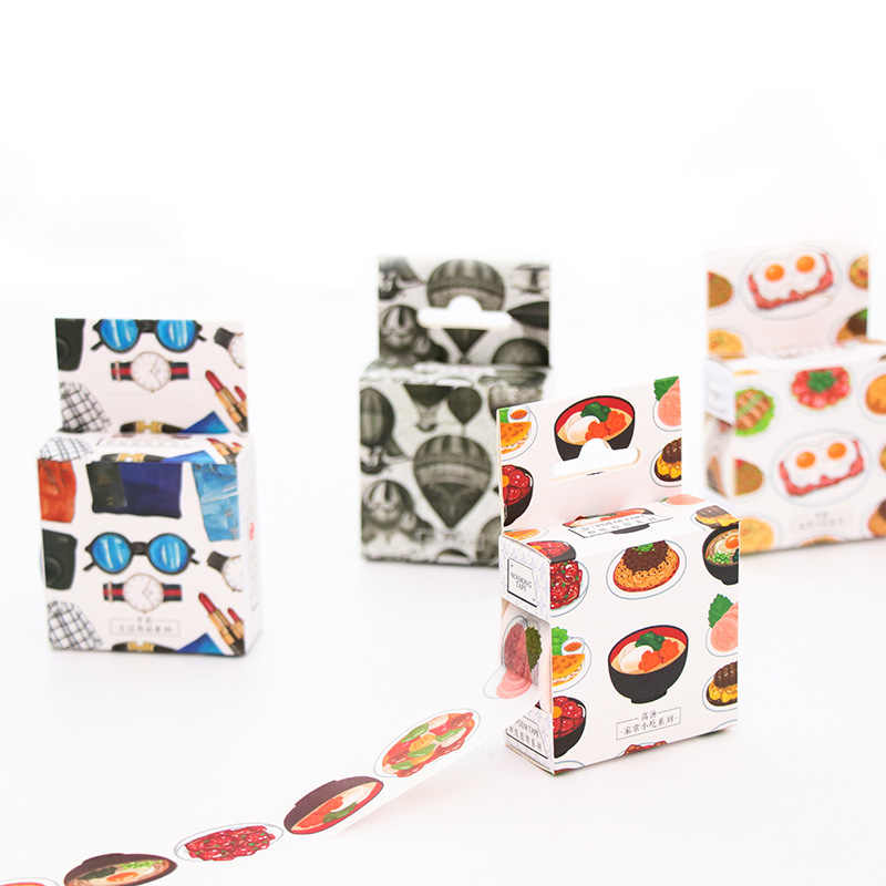 1Pcs The Red Fox Hand Account Album Decorative Water Color Washi Tape Office Adhesive Tape Stationery Sticker School Supplies