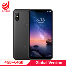 "Global Version Xiaomi Redmi Note 6 Pro 4GB 64GB 6.26"" 19:9 Full Screen 2 Front+ 2 Back Cameras Quick Charge Octa Core Smartphone(Hong Kong,China)"