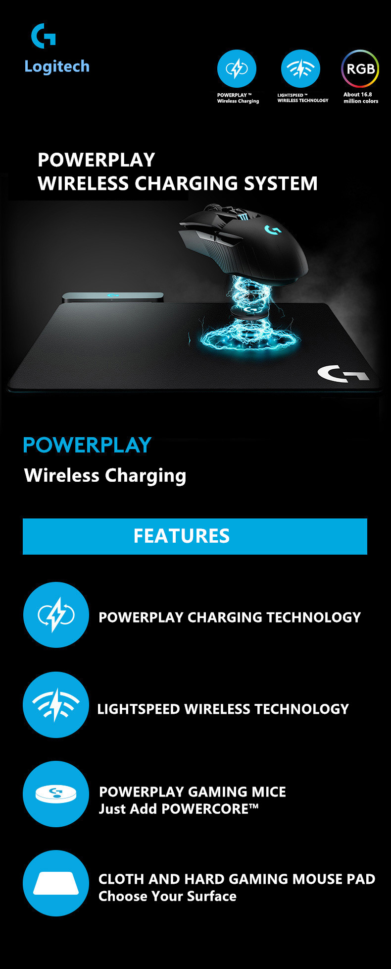 f49287d7999 Logitech POWERPLAY wireless charging system wireless charging mouse ...