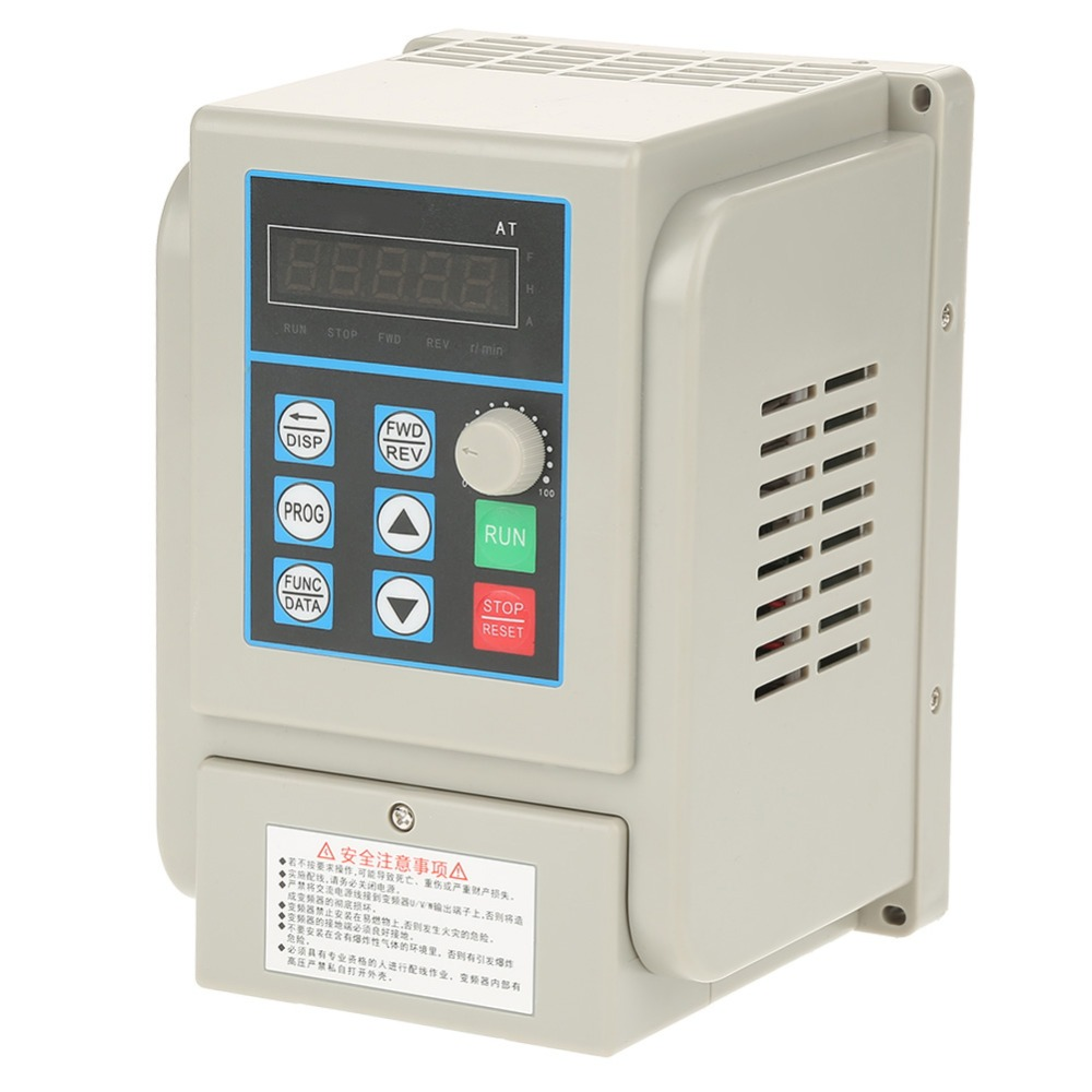 AT1-2200X AC 220V Single-phase Variable Frequency Drive VFD Speed Controller for 3-phase 2.2kW AC Motor baileigh wl 1840vs heavy duty variable speed wood turning lathe single phase 220v 0 to 3200 rpm inverter driven