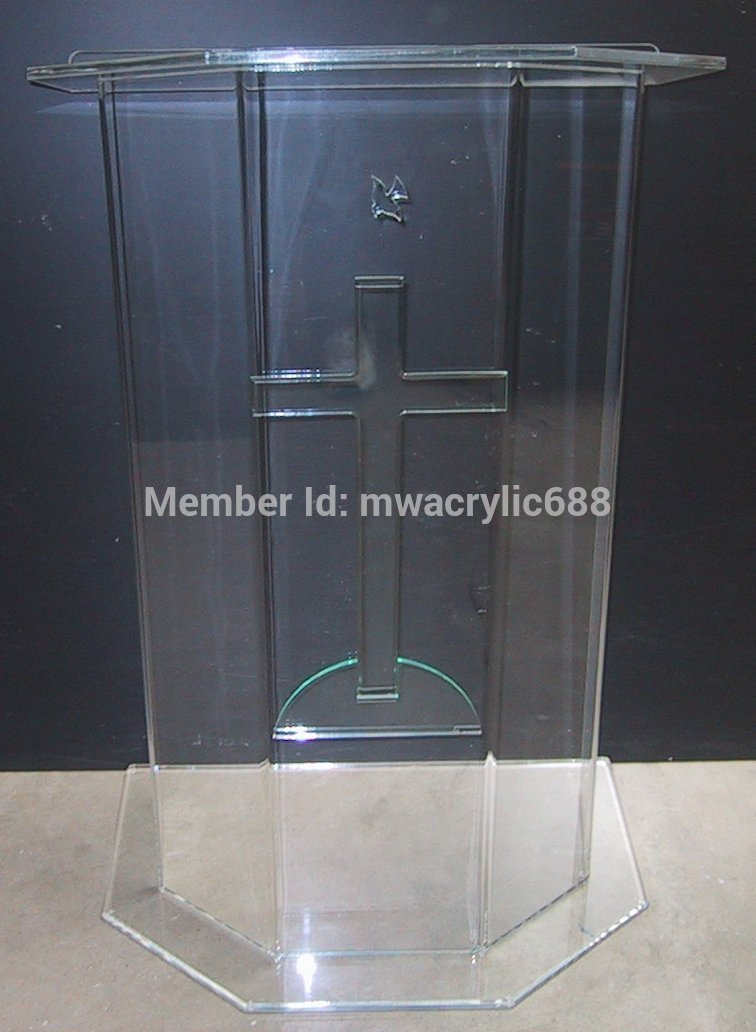 Free Shipping Beautiful Price Reasonable Clean Acrylic Podium Pulpit Lectern