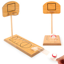 Baby Wooden Mini Basketball Shooting Toys Hoop Stand Toy Ind