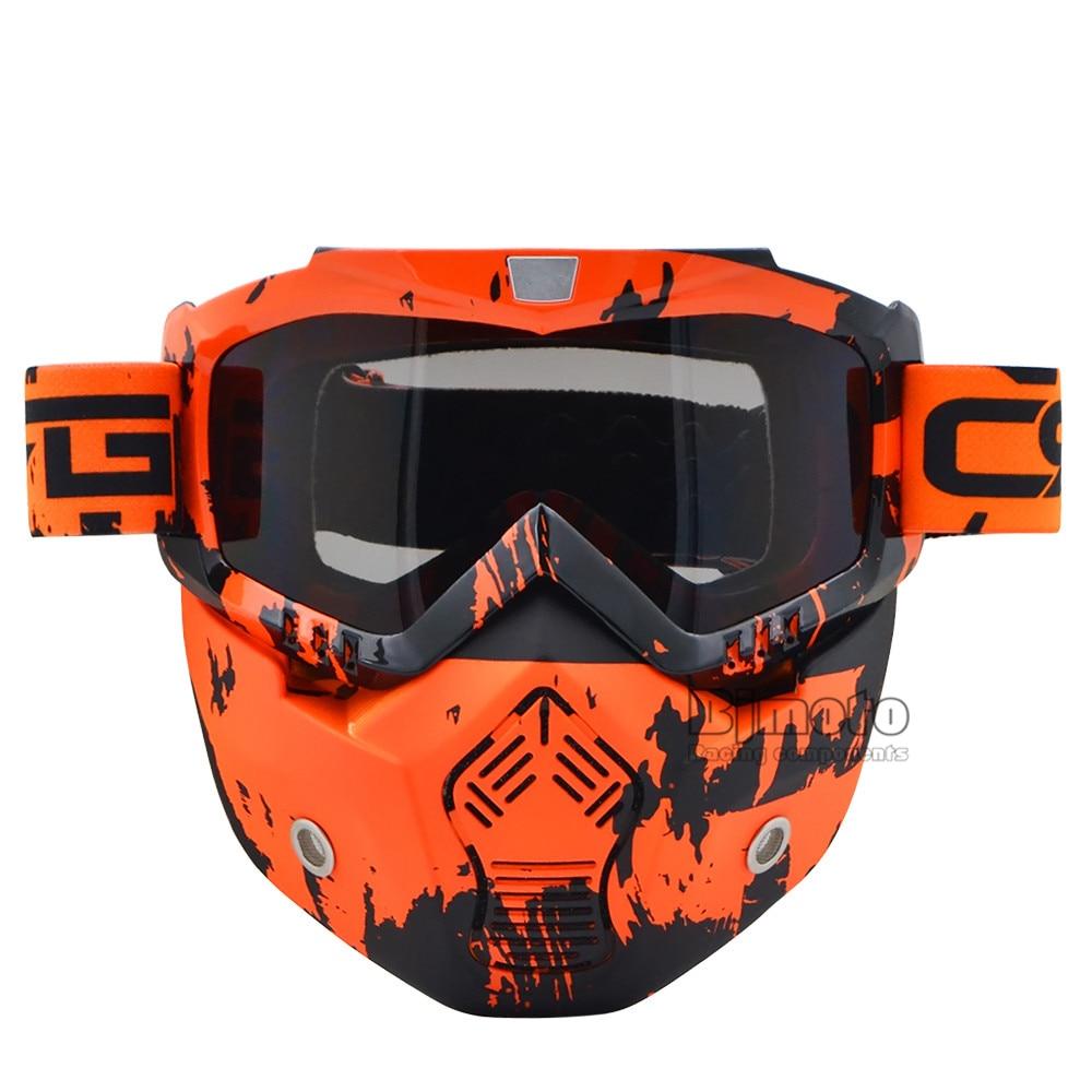 BJMOTO Para Harley Óculos De Esqui Da Motocicleta Óculos de proteção Piloto  Moto Ciclismo Óculos Óculos de Sol Retro Jet Capacete Óculos de ... c1176e850f