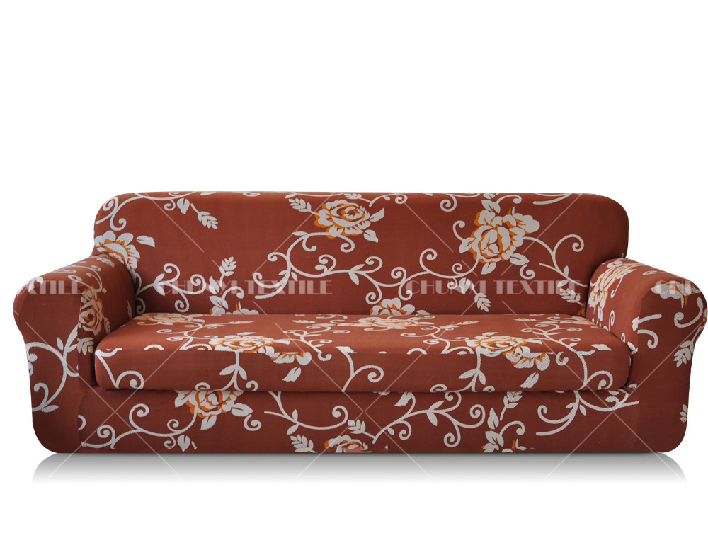 2 Piece Printed Spandex Sofa Cover Set Sofa Slipcover Sectional Slipcovers Sectional Couch
