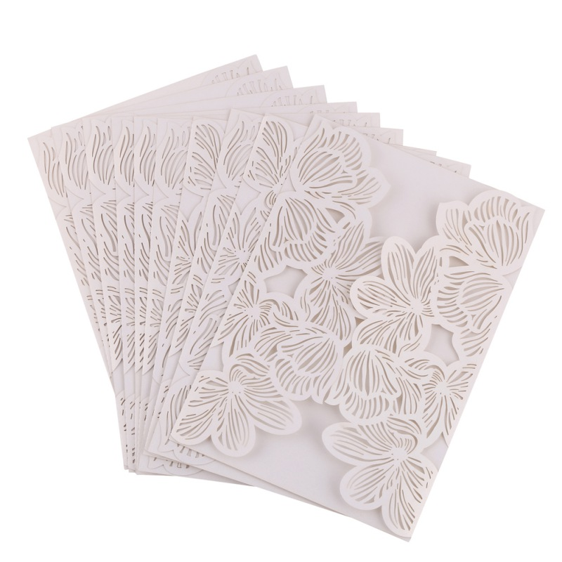 2018 10pcs laser cut butterfly invitations cards kits for wedding bridal shower birthday