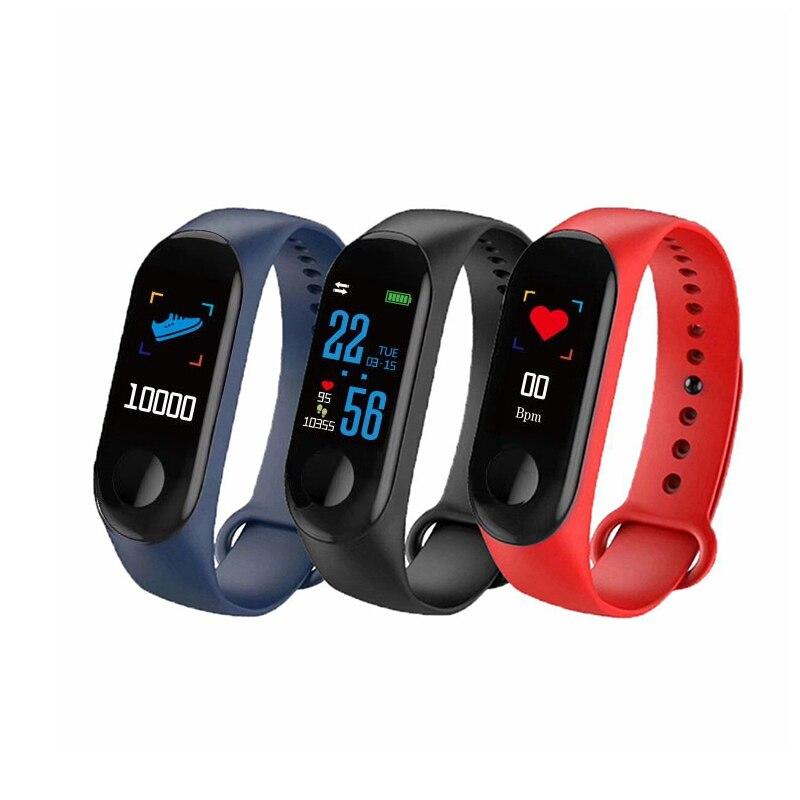 M3 pulsera inteligente salud sueño Fitness rastreador Monitor de ritmo cardíaco pulsera inteligente deporte podómetro reloj para sistema Android iOS