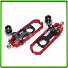 Алюминий мотоцикл устройство регулировки натяжителя цепи с бобины подходит для YAMAHA YZF R1 2006 YZF-R1 06 обувь черного и красного цвета
