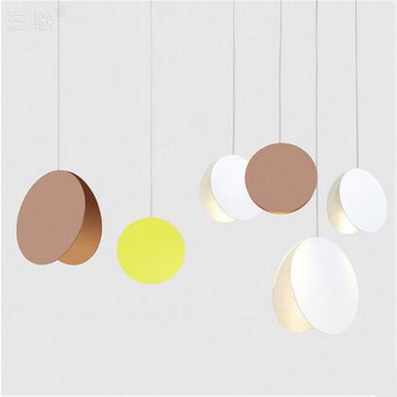 Modern Minimalism Creative Nordic 3 Colors Iron Led Pendant Light for Dining Room Living room Restaurant AC 80-265V 1590 modern nordic 7 colors carved aluminum wood geometric led e27 pendant light for dining room living room bar deco ac 80 265v 1143