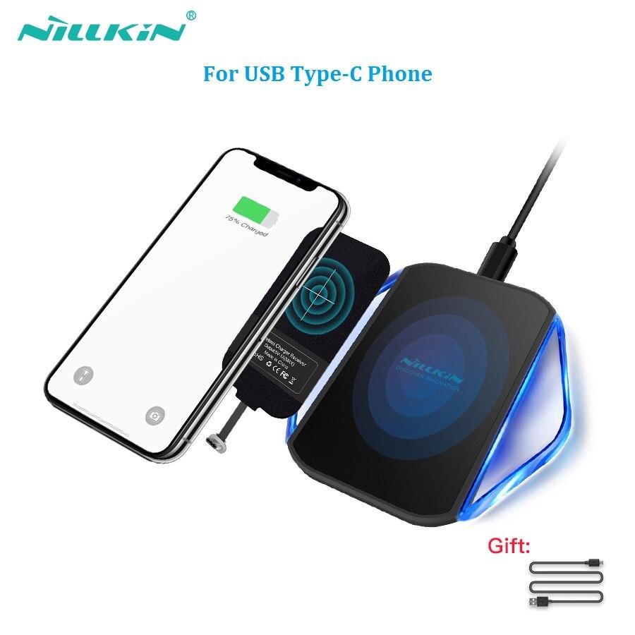 Nillkin qi wireless Pad caricatore con caricatore senza fili Tipo di ricevitore-C Porta Per xiaomi pocophone f1 per xiaomi mi 8 oneplus 6 zuk