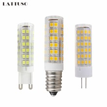 LATTUSO Mini E14 G4 G9 LED Bulb 220V SMD 3W 5W 7W 51LEDs 75LEDs Corn Lamp LED Spotlight Replace 30w 40w Halogen Chandelier Light(China)