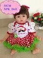 Chegada nova 55 cm 22 polegadas Silicone Renascer Baby Doll Com Colorido Christams Roupa da Boneca Melhor Bebe Reborn Boneca Como Brinquedos dos miúdos