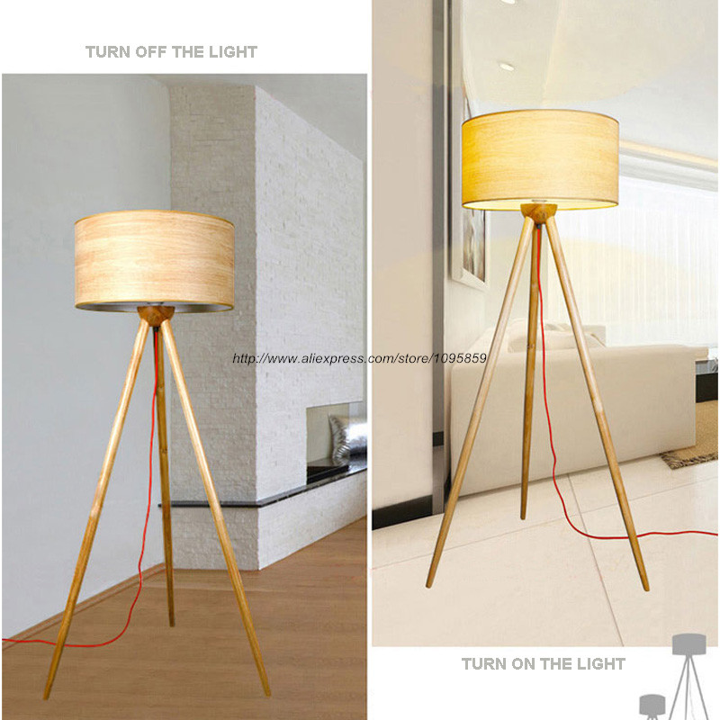 Modern Tripod Wooden Floor Lamp Bedroom Living Room Bedside Stand Light Lighting In Lamps From Lights On Aliexpress Alibaba