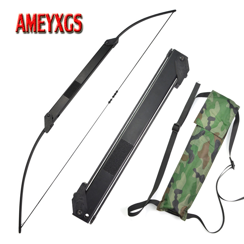 1pc Archery 30 50lbs Straight Bow Portable Folding Bow Youth Shot Training Bow Right/Left Hand Hunting Shooting Accessories