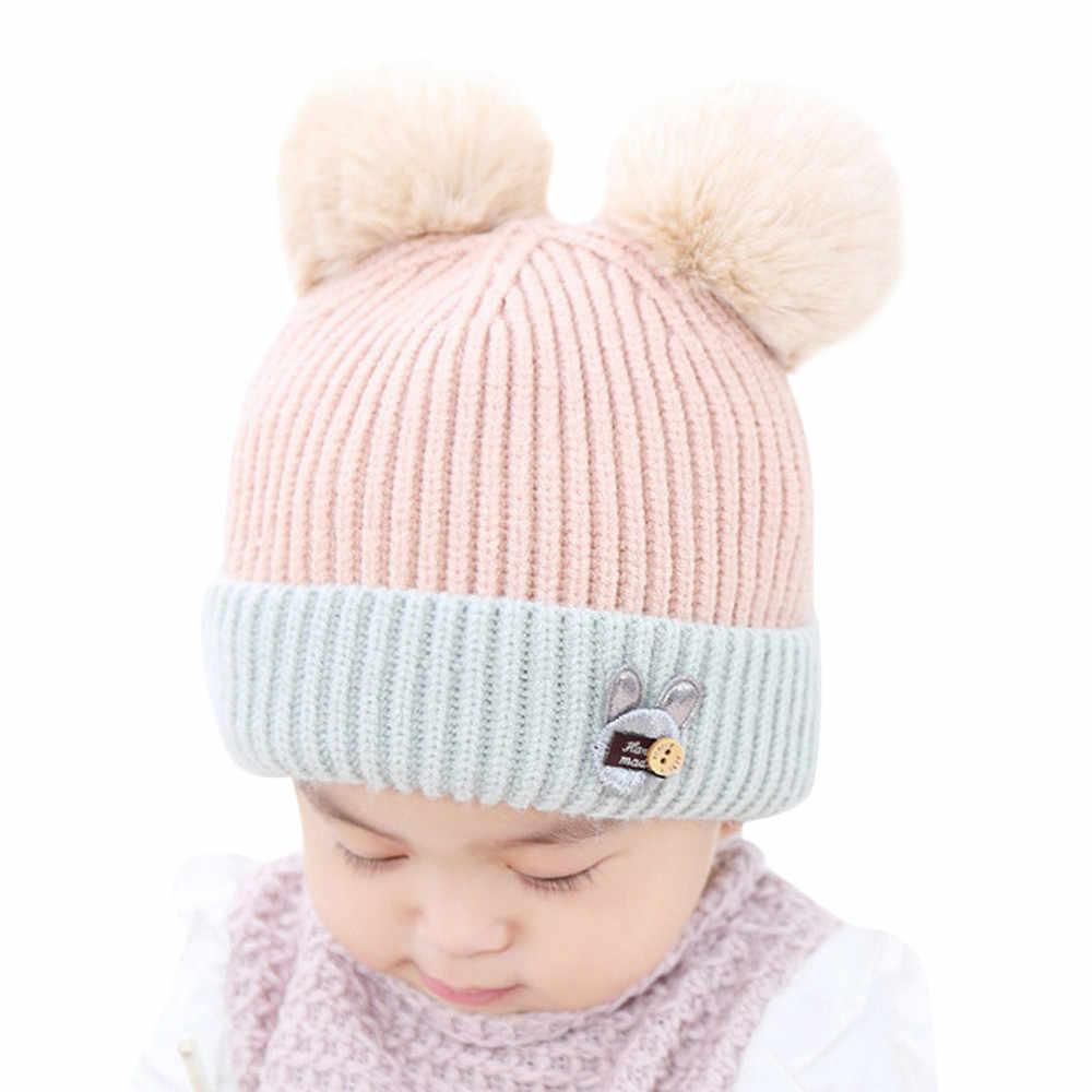 f3ffcd4e0fd ... 1PC Children Cute Toddler Kids Girl Boy Cap baby hat Infant Winter Warm  Crochet Knit Cute ...