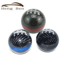 HB Carbon Fiber MUGEN Gear Shift Knob 6 Speed Universal Manual Automatic Spherical Shift Knob