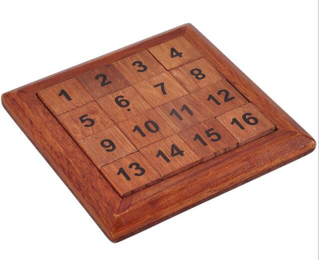 2017 New IQ Math Wooden Brain Teaser Puzzle Number Baffling Game for Adults Children wooden t puzzle brain teaser iq toy