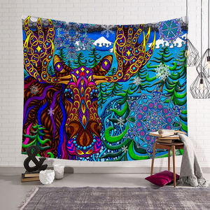 Image 5 - Polyster Hippie Mandala Pattern Tapestry Abstract Painting Art Wall Hanging Gobelin Living room Decor Crafts  Tapestries GT0024