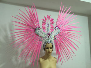 Image 3 - Latin dance Samba accessories Fashion exquisite headdress feathers Delicate dance shows accessories Samba clothing