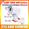 "2016 New Model 2.0MP Waterproof HD1080P PTZ AHD Camera 1/3"" Sony Exmor CMOS Sensor,4X Optical Zoom,IR 30M"