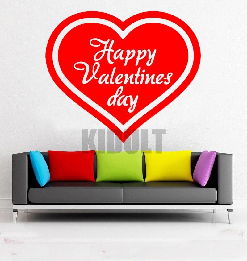 Kreative Wandtattoos Herzen Valentine Muster Aufkleber Vinyl Wandaufkleber Home Interior Wohnzimmer Wand Gemalt Flugzeug