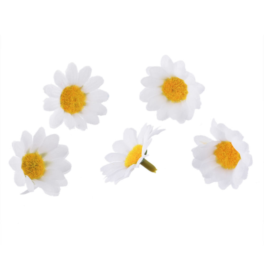 Hoomall 100PCs Mini Daisy Decorative Flower Artificial Silk Flowers Party  Wedding Decoration Home Decor(without Stem) In Artificial U0026 Dried Flowers  From ...