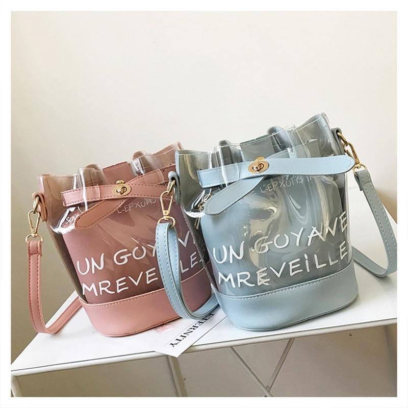Women Bag Clear Bag Bolsas Transparent Handbag PVC Bag High Quality Messenger Bags Mother And Child Package Bolso Mujer