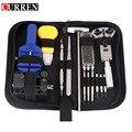 Curren 14/16 pieces assista repair tool kit set pin assista caso opener ligação remover relojoeiro pinça chave de fenda dedicado