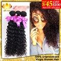 Peruvian Virgin Hair Deep Wave 3 Bundles 7A Unprocessed Virgin Pervian Hair Human Hair Extension Peruvian Deep Wave Curly Hair
