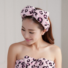 Cute Butterfly End Bath Wash Makeup Hair Band Shower Caps Lovely Ribbon Face Beauty Hairbands Accessories