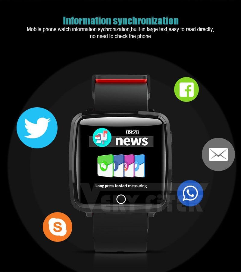 VERYFiTEK Smartwatch Blood Pressure Heart Rate Monitor Men Women Sport Watch Pedometer Stopwatch Smart Watch for IOS Android (10)