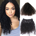 Clip En Extensiones de Cabello Humano de grado 6A Pelo Virginal Malasio clip en extensiones de cabello humano afroamericano 4B 4C Clip Ins
