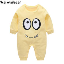 Waiwaibear Newborn Baby Rompers Baby Boys Girls Long-Sleeved Rompers Cartoon Infant Jumpsuit Baby Toddler Clothes BB8(China)