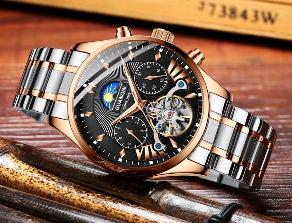 HTB1rwglRjTpK1RjSZKPq6y3UpXam GUANQIN 2019 clock men's/mens watches top brand luxury automatic/mechanical/luxury watch men gold tourbillon mens reloj hombre