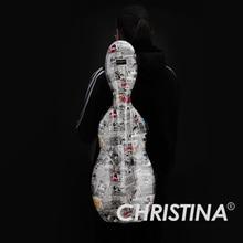 Высокое Качество Италия Кристина прямоугольник Скрипка чехол 4/4 углеродного стекловолокна чехол Аксессуары для скрипки