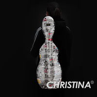 High quality Italy Christina rectangle violin case 4/4 carbon fiberglass case Violin accessories