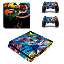 Dragon Ball Z Super Goku PS4 Slim Skin Sticker For Sony PlayStation 4 Console and 2 Controllers PS4 Slim Skin Sticker Decal
