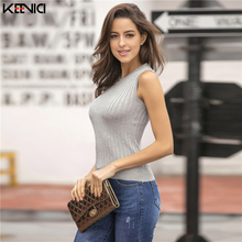2019 New Short Vest Knit Sexy Ladies Sweater Bottoming Shirt Vogue Street O-neck Solid Color Spring Summer Bodycon Sweater Women
