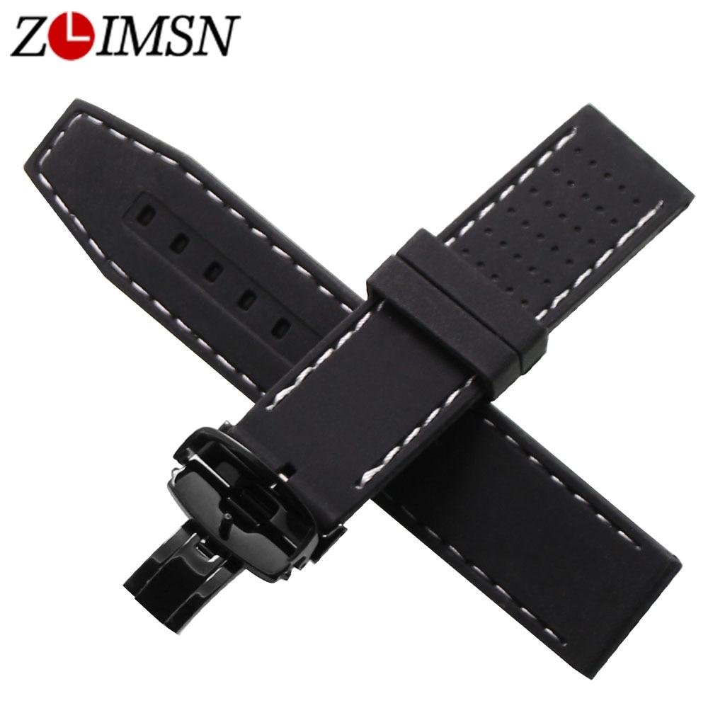 ZLIMSN 22mm Sport Wasserdicht Silikon Gummi Armband Schmetterling - Uhrenzubehör - Foto 2