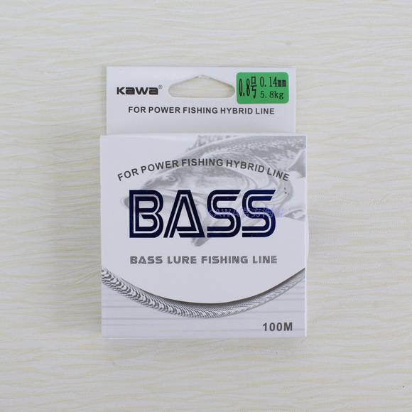 KAWA NAUJOS GAMYBOS BASS nailono linija, protofilamentas, importuotas iš Japonijos, didelė stipri įtampa, žemas lankstumas, nemokamas pristatymas