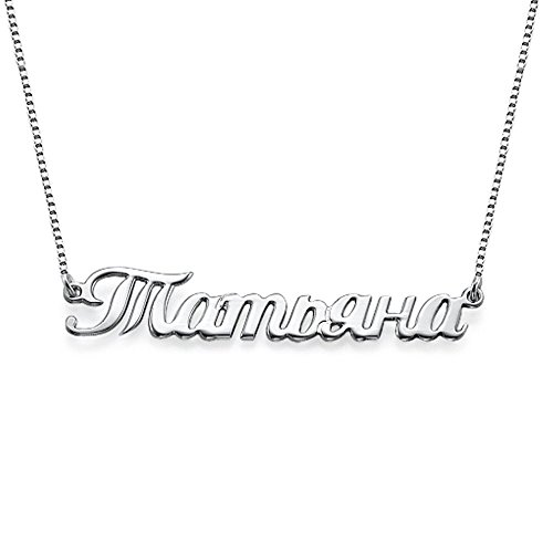 Russian Name Necklace Custom Made with Any Name Aliexpress Top-selling Accept Drop Shipping YP3871 все цены