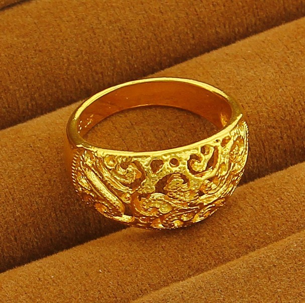 Low Price Hot Sale 24K Gold Plated Rings For Women Beautiful